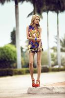 83259 scarf print tunic 13euro  printed shorts 11euro  platform sandals 19euro medium 1365658802