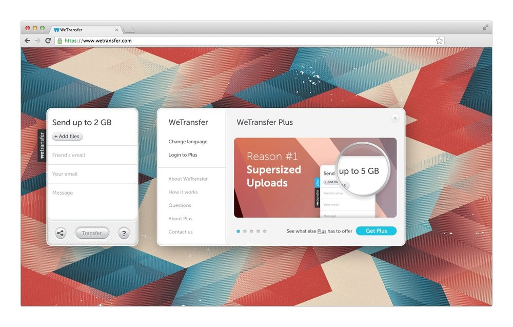 WeTransfer turns it up with 10GB transfers for Plus users - WeTransfer (press release)