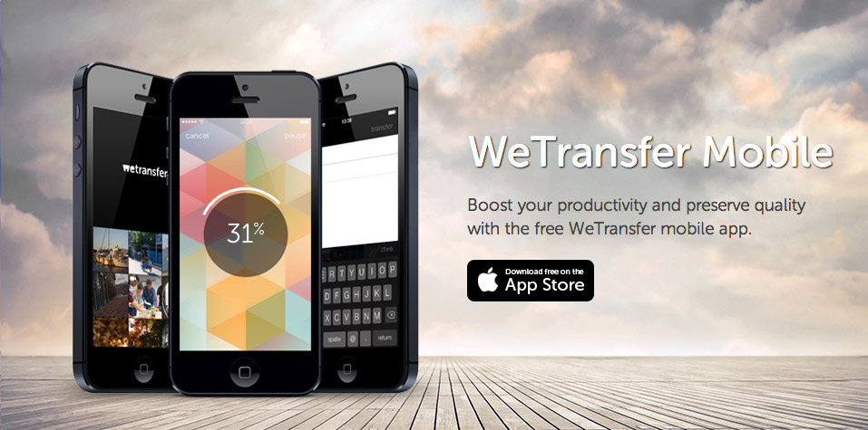 foto wetransfer su iphone