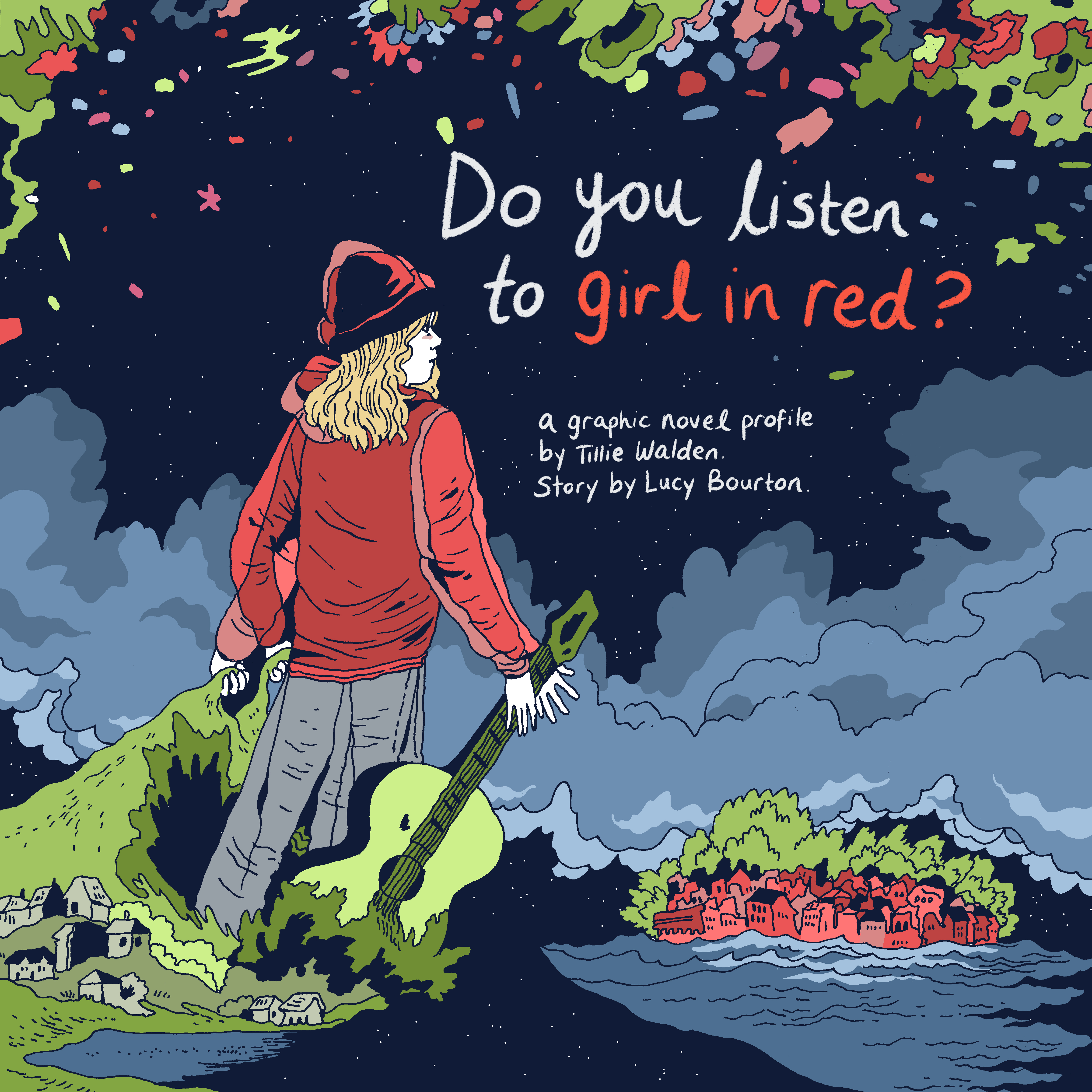 Cover artwork graphic novel Do you listen to girl in red_ illustrated by Tillie Walden (1).png