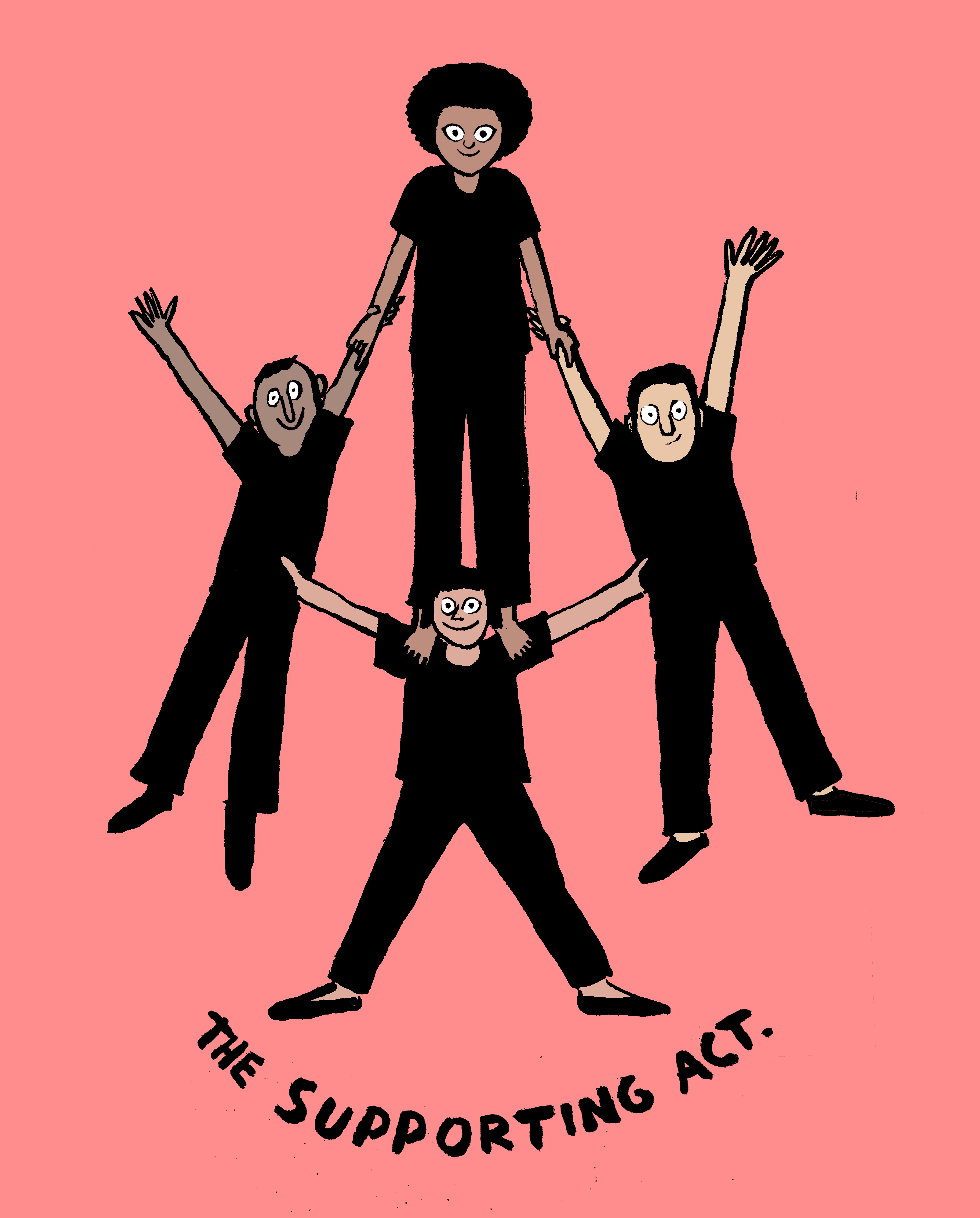 Jean Jullien for WeTransfer's Supporting Act Foundation