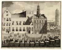 92755 stadhuisbrug met dom 18de eeuw koetsjes stadhuis medium 1365676536