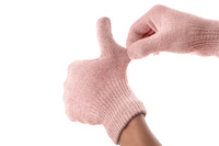90529 touchscreen gloves coral pink stretch to fit medium 1365623938