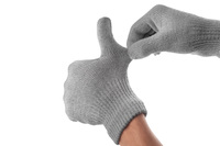 90531 touchscreen gloves natural gray stretch to fit medium 1365638402