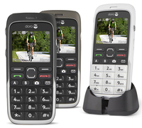 91434 doro phoneeasy 520x black and mocca front and white in cradle medium 1365620066