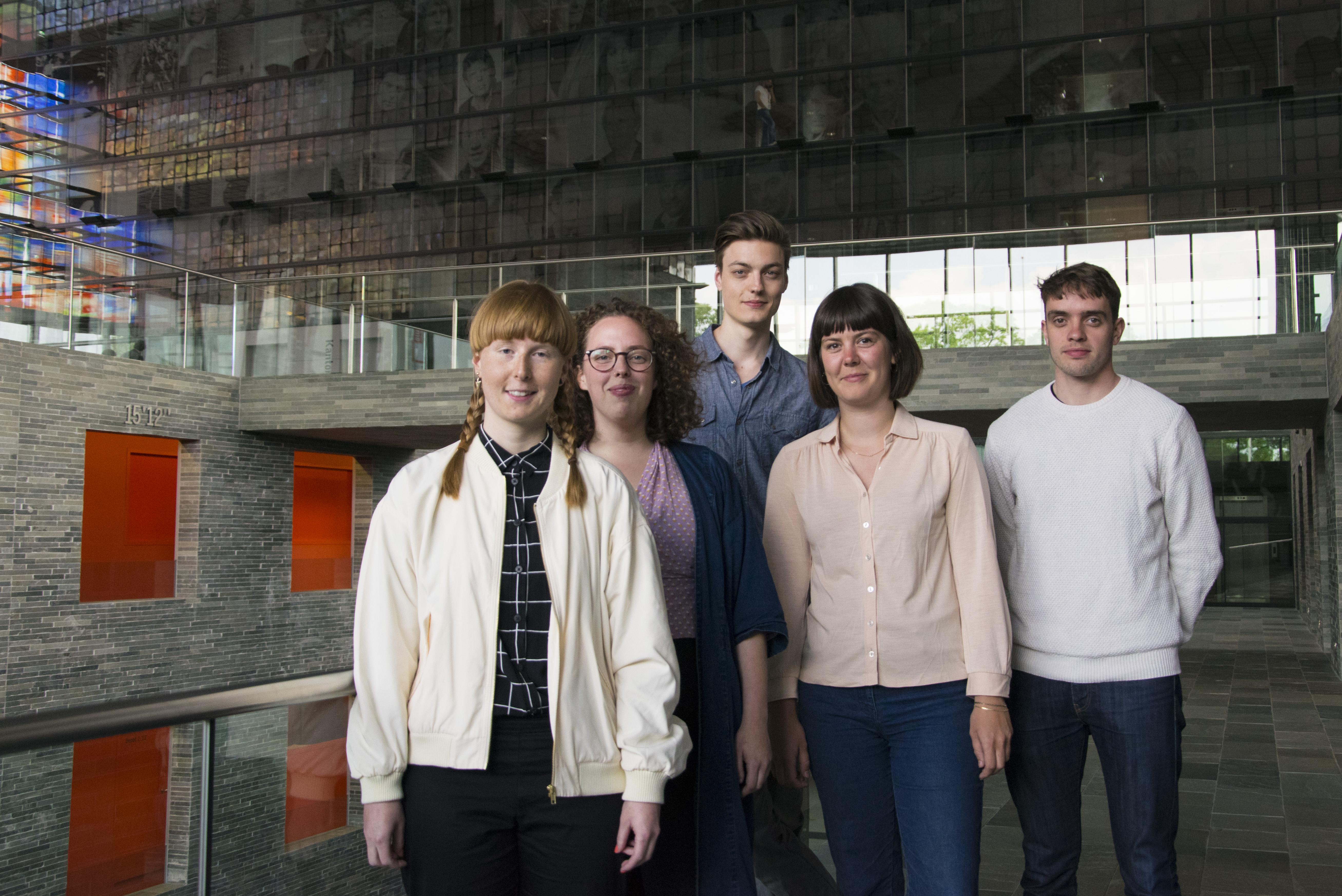 Open Media Art - de vijf kunstenaars.
