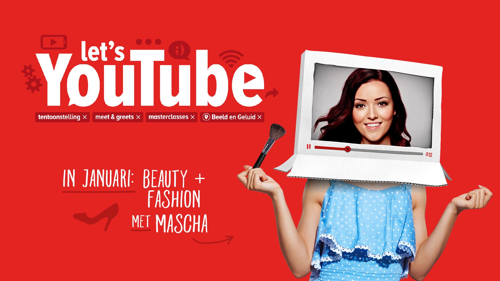 Mascha Feoktistova (Beautygloss) is de gastcurator van de maand Beauty+Fashion in de tentoonstelling Let's YouTube bij Beeld en Geluid