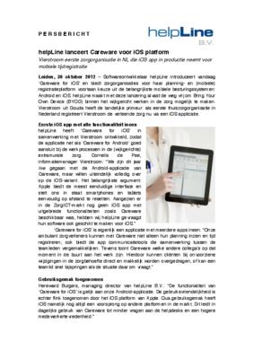 17937 1351541642 persbericht helpline ios careware vierstroom 30.10.2012 medium