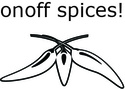 onoff spices! logo