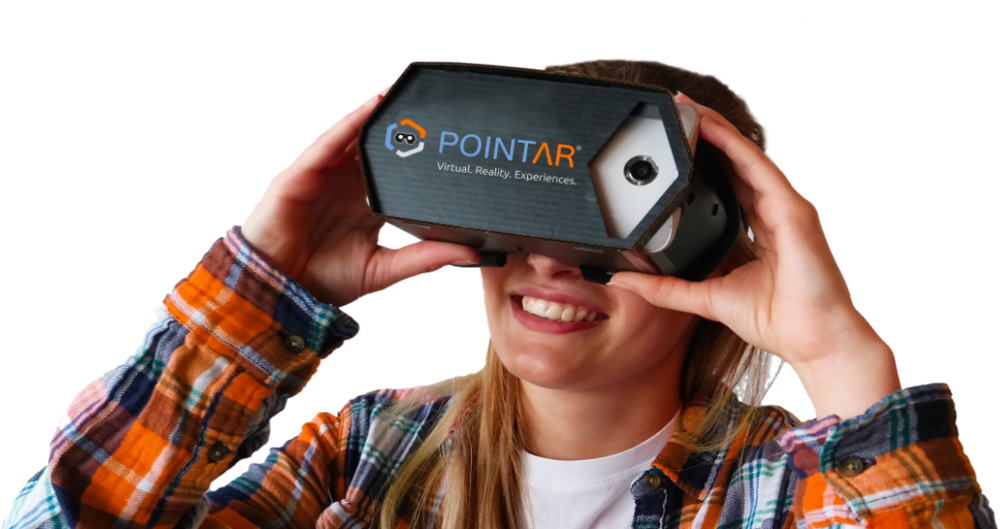 The POINTAR Cardboard from DEXPERIO makes Virtual, Augmented and Mixed Reality Apps available for all Smartphone Users