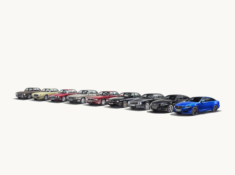 278659 j xjr575 xj heritage range line up 250418 2f640f large 1524568024