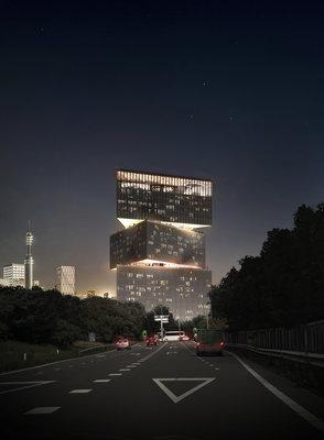 164893 artist impression rai hotel by night vanaf a10 afrit s109 b0b927 medium 1430226036