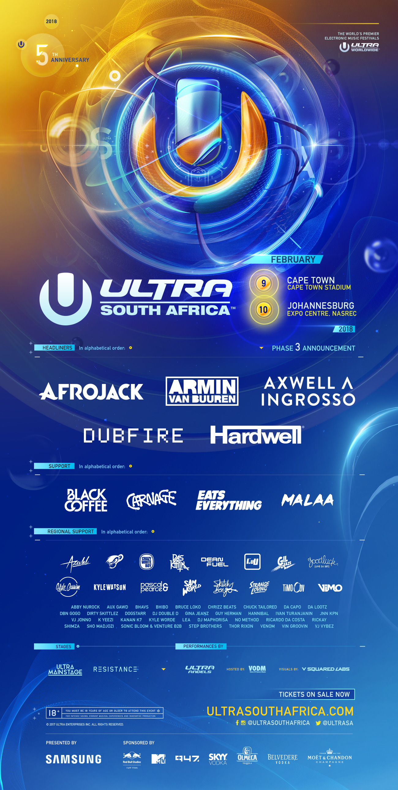 @UltraSA Finalizes Fifth Year Lineup #SouthAfrica 9-10 Feb 2018 #UltraSA2018