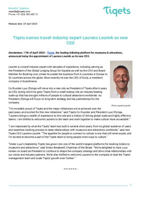CEO Press Release