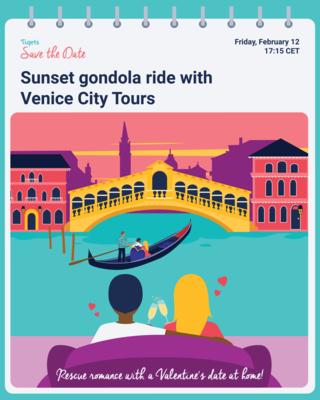 Save the Date - Gondola Ride Venice