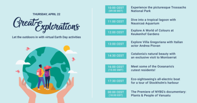 Great Explorations line up