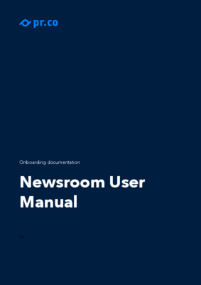 General Newsroom User Manual