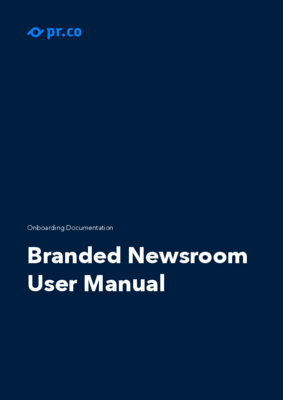 Branded Newsrooms Manual Pr.co