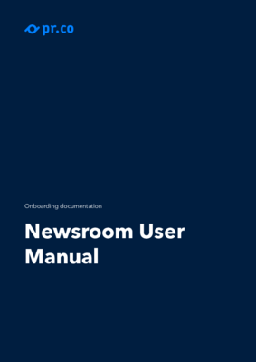 Newsroom Manual 2020