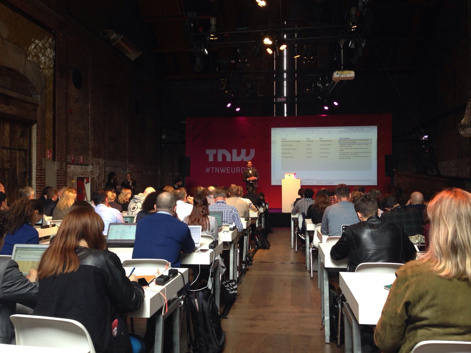 PR Strategy Workshop at TNWEurope 2016