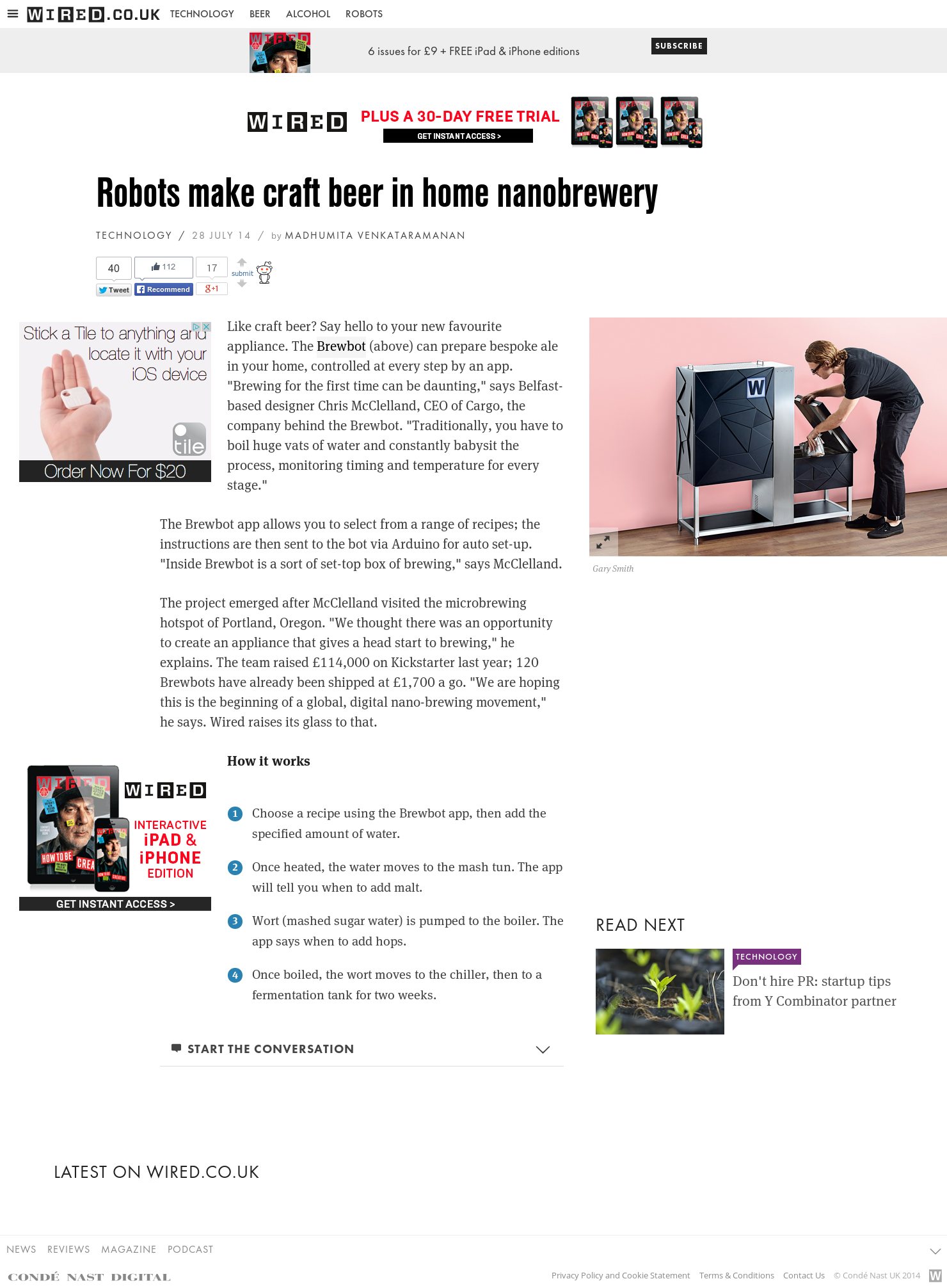 Robots make craft beer in home nanobrewery - wired.co.uk