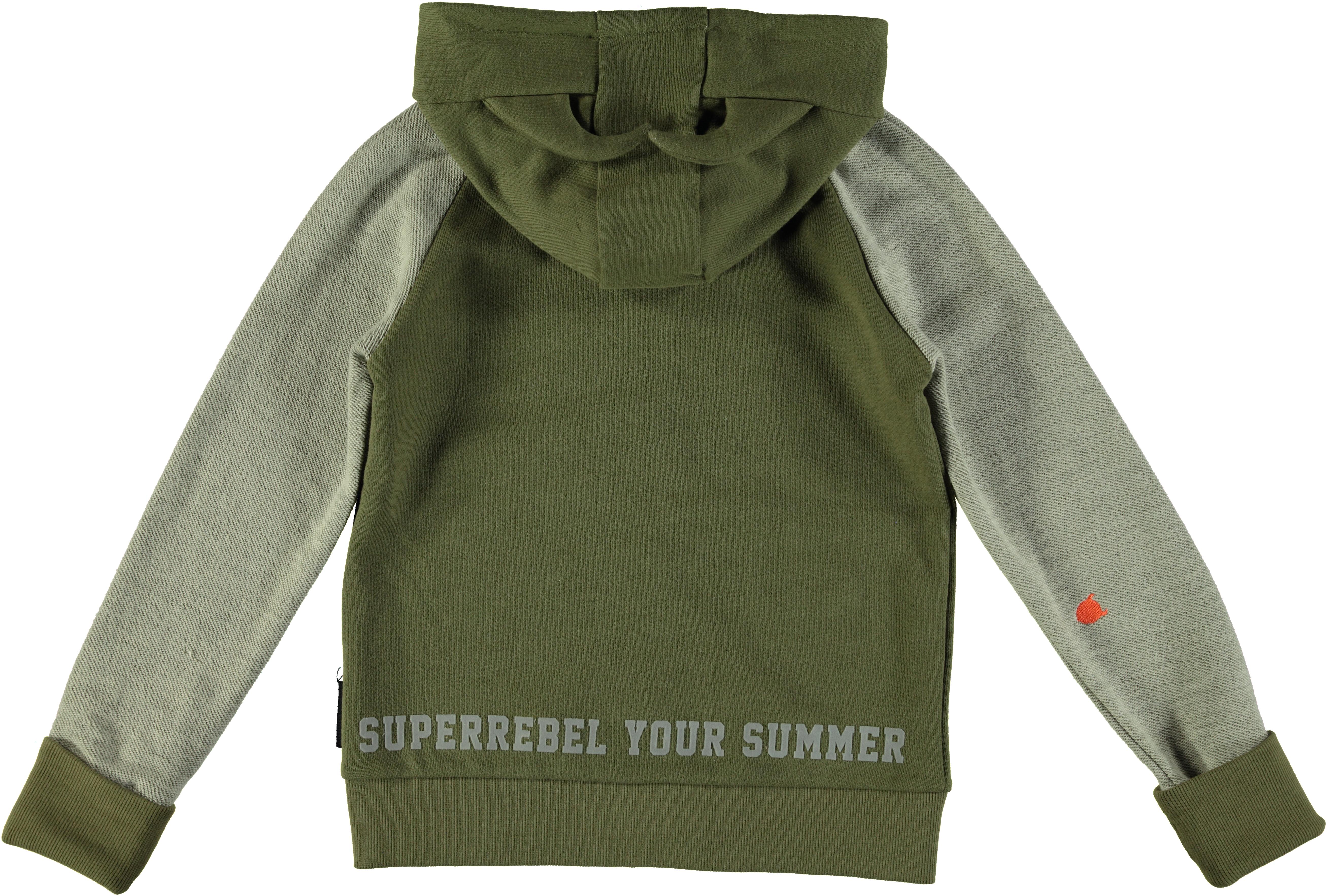 188202 superrebel kidsgear hoodie olive %e2%82%ac69,95 back 92584b original 1448370781
