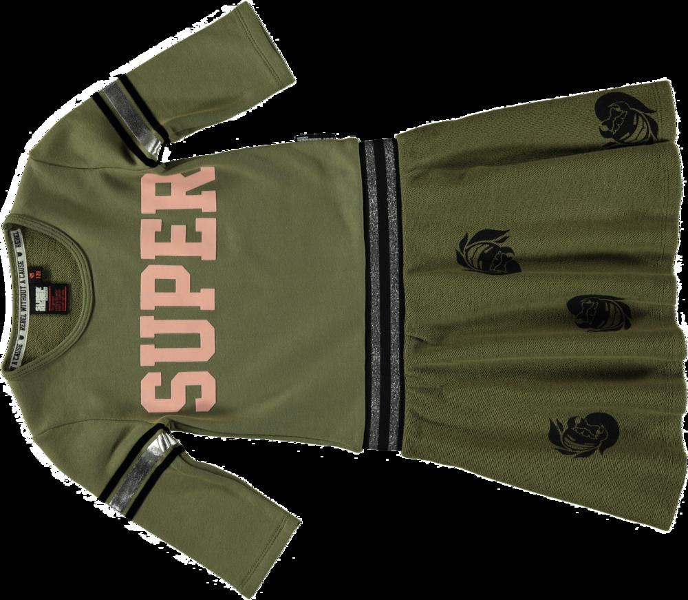 188239 superrebel kidsgear sweatdress olive %e2%82%ac59,95 front 56ff30 large 1448376187