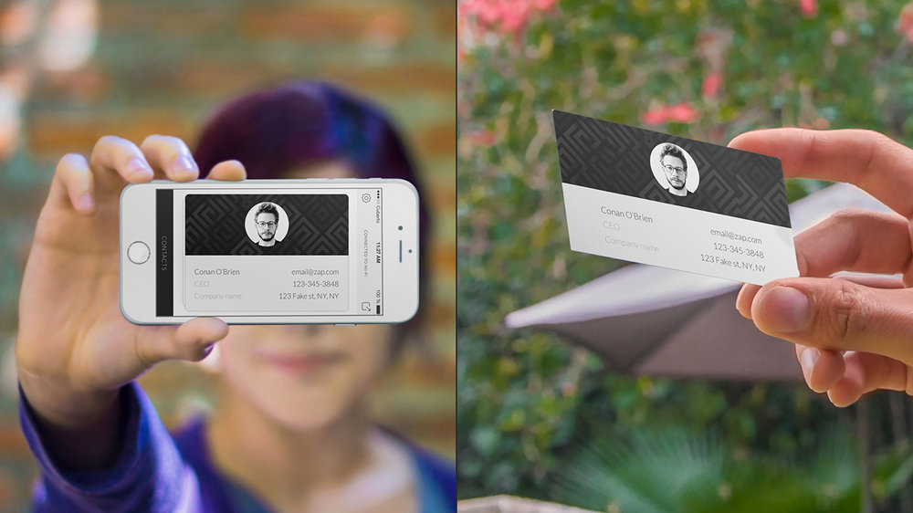 The race to create the business card of the future - Zap - The ...