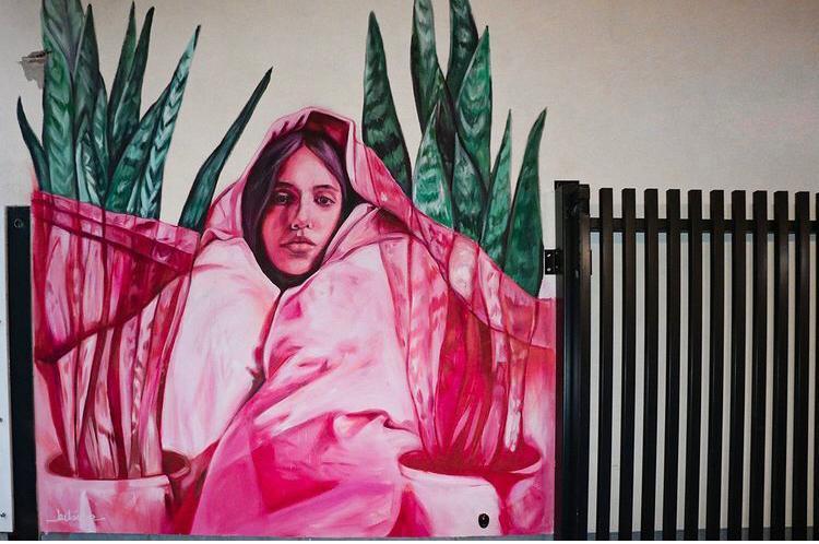 Een van de twee werken van Kitsune Jolene.