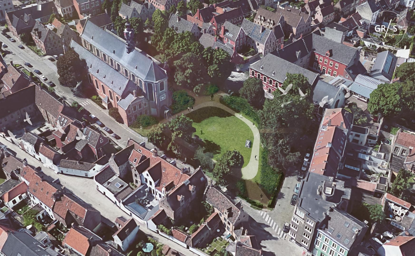 Een toekomstbeeld van het Begijnhofdriespark.