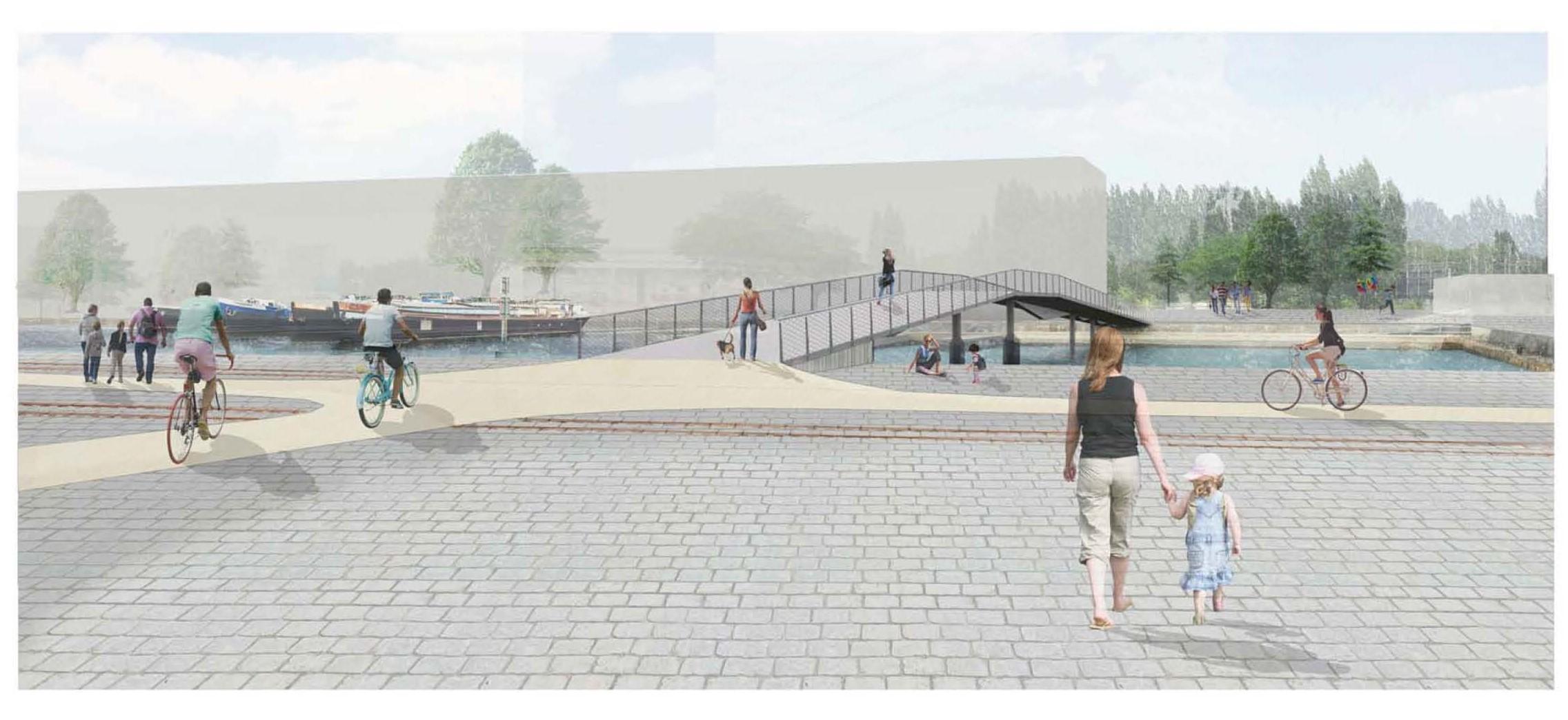 Een toekomstbeeld van de Matadibrug.