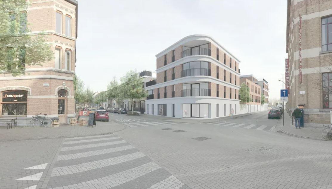 Een toekomstbeeld van het project in de Kraankindersstraat. © net architectuur