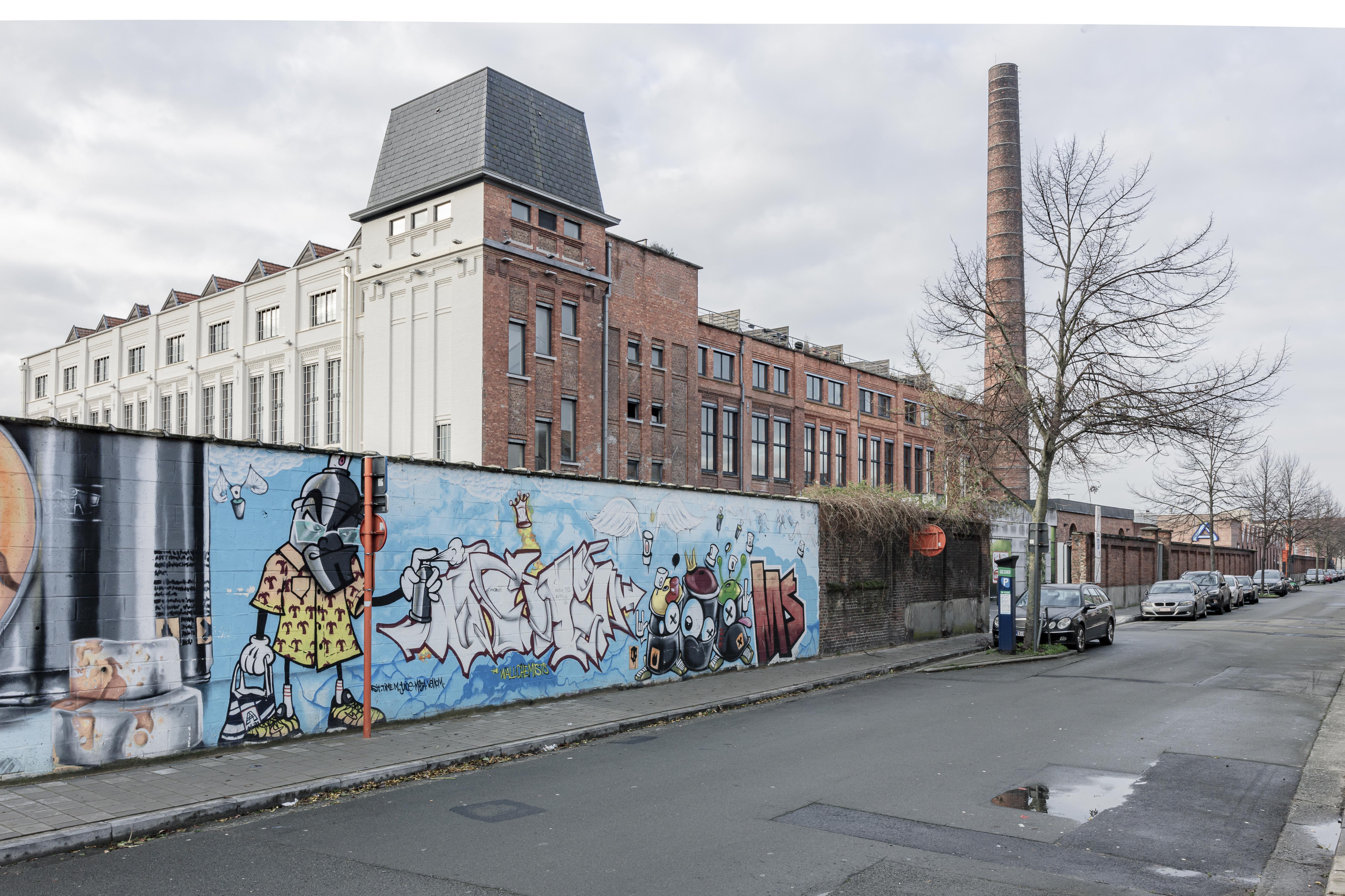 UCO-Rooigem, de voormalige spinnerij aan de Rooigemlaan in Gent. © Alexander Dumarey