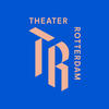 Medium square tr logo roze op blauw