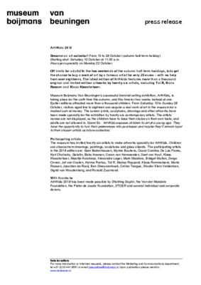 Kunst4Kids 2018 Press release ENG