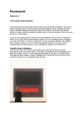 PB Stedelijk Museum Rothko & ik