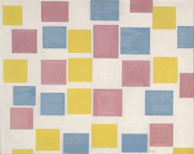20 Piet Mondriaan, Compositie met kleurvakjes_Composition with colour fields