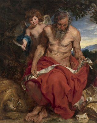 06 Anthonie van Dyck, Heilige Hieronymus_Saint Jerome