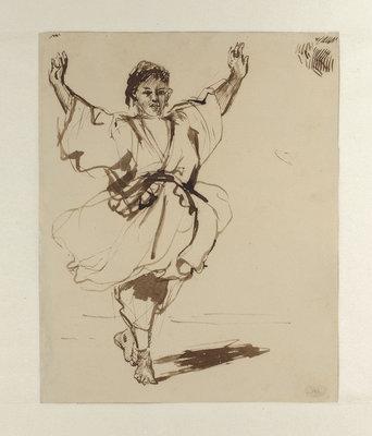 Eugène Delacroix, Dansende Marokkaan | Dancing Maroccan, collectie collection Museum Boijmans Van Beuningen, Rotterdam. Bruikleen Loan: Stichting Museum Boijmans Van Beuningen 1940 (voormalige collectie former collection Koenigs)