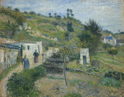 Camille Pissarro, Les Coteaux d'Auvers, 1882, collectie Museum Boijmans Van Beuningen