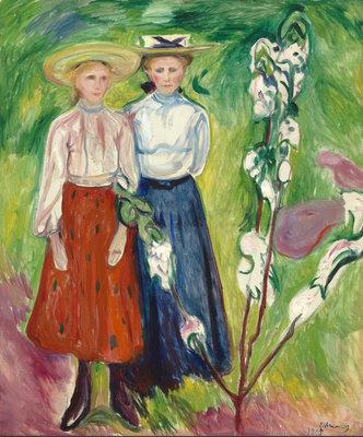 Edvard Munch, Twee meisjes bij een appelboom, 1905, Museum Boijmans Van Beuningen, Rotterdam