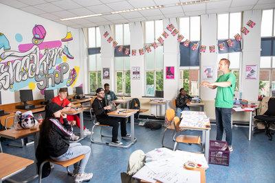 KUNST/WERK: Les in de klas, Foto: Marwan Magroun