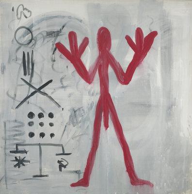 A.R. Penck, Roter Man, 1972, collectie Museum Boijmans Van Beuningen.