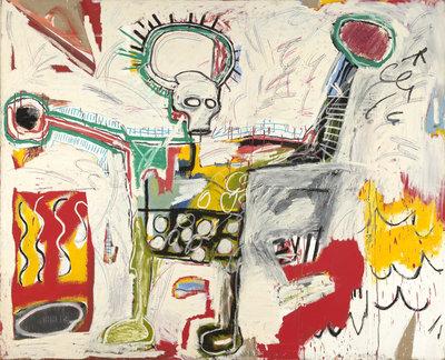 Jean-Michel Basquiat, Untitled (Zonder titel), 1982, collectie Museum Boijmans Van Beuningen.