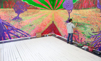 'I Never Knew About Fauvism' van Vince Blok, work in progress. Foto: Kimberly Vicente
