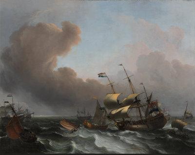 Ludolf Bakhuizen, Storm op de Hollandse kust, 1682, Museum Boijmans Van Beuningen, Rotterdam. Foto door Studio Tromp