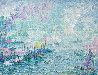 Paul Signac, Le port de Rotterdam (De haven van Rotterdam), 1907, Museum Boijmans Van Beuningen, Rotterdam. Foto door Studio Tromp