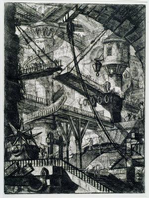Giovanni Battista Piranesi, De ophaalbrug, 1761, Aankoop met steun van: Stichting Lucas van Leyden 1952, collectie Museum Boijmans Van Beuningen.
