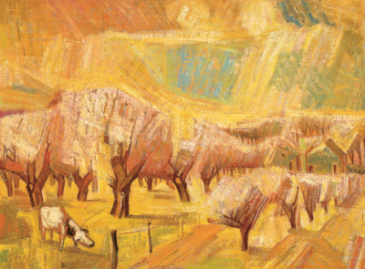 Henk Chabot, Betuwse lente, 1948, olieverf op doek, 107 x 145 cm, Collectie Chabot Museum Rotterdam, langdurig bruikleen Museum Boijmans Van Beuningen