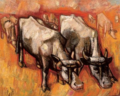 Henk Chabot, Grazende koeien, 1948, olieverf op doek, 120 x 151 cm, Collectie Chabot Museum Rotterdam, langdurig bruikleen Museum Boijmans Van Beuningen